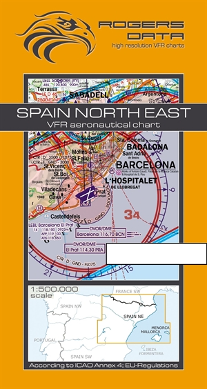 Rogers Data - Spain North East VFR Chart
