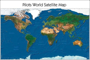 World Satellite Map - Desk Pad